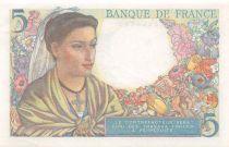 France 5 Francs Shepherd - 05-04-1945 Serial V.127 - AU