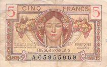 France 5 Francs Trésor Français - 1947 - Série A - B+