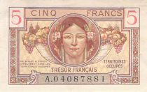 France 5 Francs Trésor Français - 1947 - Série A - TTB