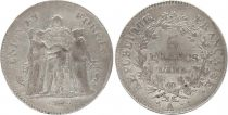 France 5 Francs Union et Force - An 5 A