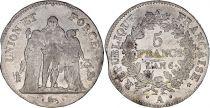 France 5 Francs Union et Force - An 6 A