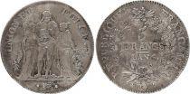 France 5 Francs Union et Force - An 6 Q Perpignan