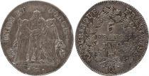 France 5 Francs Union et Force - An 8 Q Perpignan