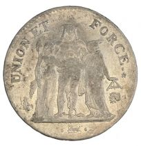 France 5 Francs Union et Force - An 9 L Bayonne