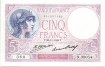 France 5 Francs Violet - 1928