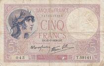 France 5 Francs Violet - 27-07-1939 -Série T.59141