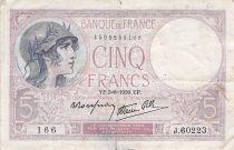 France 5 Francs Violet 03-08-1939 Série J.60223 - TB+