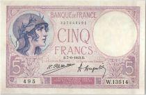 France 5 Francs Violet 07-06-1923 Série W.13514