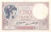 France 5 Francs Violet 09-10-1930 Série F.42177 - SUP