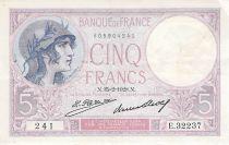 France 5 Francs Violet 15-02-1928 Série E.32237 - TTB