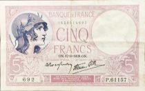 France 5 Francs Violet 17-08-1939 Série P.61157 - TTB