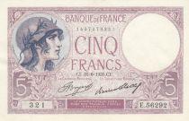 France 5 Francs Violet 22-06-1933 - Série E.56292 - Neuf