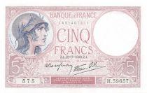 France 5 Francs Violet 27-07-1939 Série H.59657 - SPL+