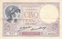 France 5 Francs Violet 28-04-1932 Série U.48223 - TTB