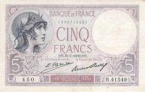 France 5 Francs Violet 31-07-1930 Série R.41549 - TTB