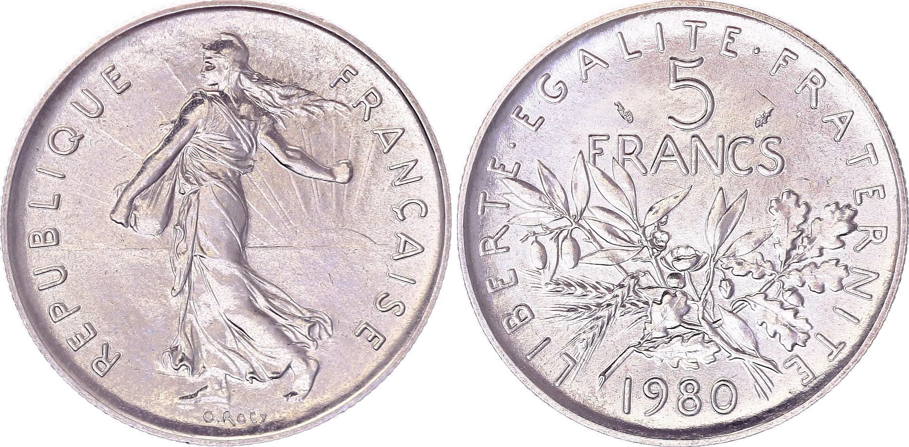 France 5 Francs Woman sowing seed - 1980 - UNC