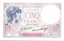 France 5 Francs Woman wearing helmet - 1930