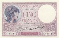 France 5 Francs Woman wearing helmet - 1933