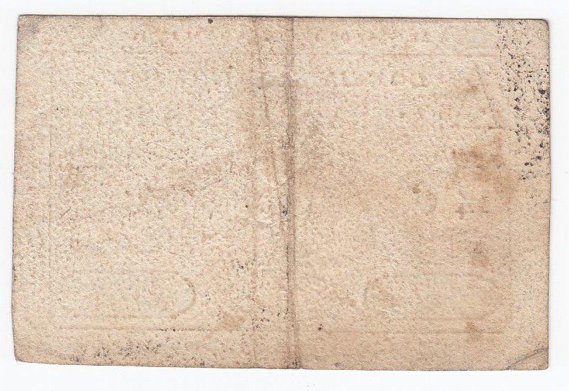 France 5 Livres - Timbre sec portrait de Louis XVI (06-05-1791) - TTB