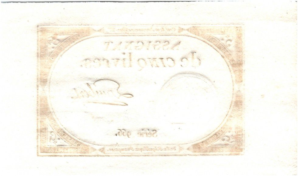 France 5 Livres 10 Brumaire An II (1793-10-31) Sign. Lambert