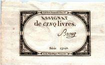 France 5 Livres 10 Brumaire An II (31-10-1793) - Sign. Brouz
