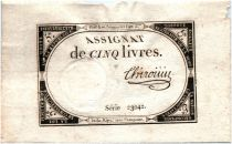 France 5 Livres 10 Brumaire An II (31-10-1793) - Sign. Chirouin