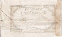 France 5 Livres 10 Brumaire An II (31.10.1793) - Sign. Aze