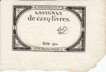 France 5 Livres 10 Brumaire An II (31.10.1793) - Sign. Bot