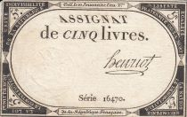 France 5 Livres 10 Brumaire An II (31.10.1793) - Sign. Henriot