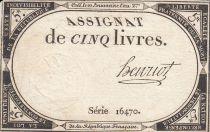 France 5 Livres 10 Brumaire An II (31.10.1793) - Sign. Henriot