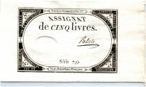 France 5 Livres 10 Brumaire An II (31.10.1793) - Sign. Palale