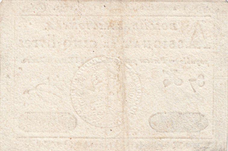 France 5 Livres Timbre sec Louis XVI - 01-11-1791 - Série 87 K - TTB
