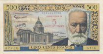 France 5 NF/500 Francs Victor Hugo - 30-10-1958 - F + - P.137