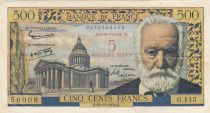 France 5 NF sur 500 Francs - Victor Hugo - 1958 - Serial G.113