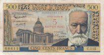 France 5 NF sur 500 Francs Victor Hugo - 12-02-1959 - Série C.115 - TB+