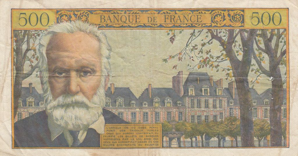 France 5 NF sur 500 Francs Victor Hugo - 1959 Série E.121