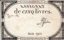 France 5 Pounds 10 Brumaire Year II (31.10.1793) - Sign. Aze