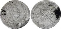 France 5 Sols Louis XIV aux insignes - 1702 M Toulouse - Argent