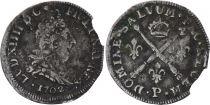 France 5 Sols Louis XIV aux insignes - 1702 P Dijon - Argent