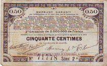 France 50 cent. 70 communes