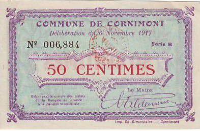 France 50 cent. Cornimont
