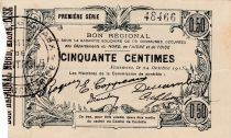 France 50 cent. Fourmies - First serial -  08/05/1916