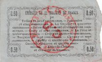 France 50 cent. Fourmies - Serial 32 - 08/05/1916