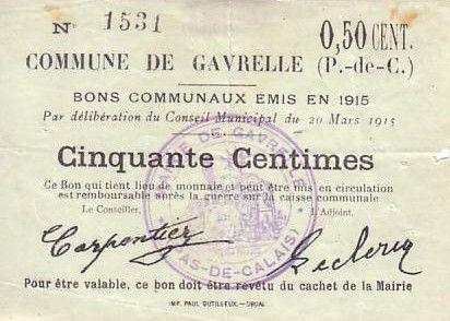 France 50 cent. Gavrelle