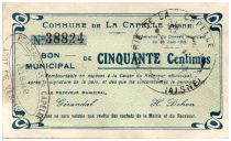 France 50 cent. La Capelle City - 1915