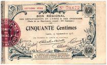 France 50 cent. Laon Régional - 1915
