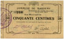 France 50 cent. Maissemy City - 1915