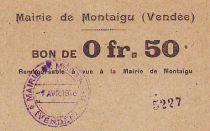 France 50 cent. Montaigu - 01/04/1916