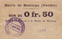 France 50 cent. Montaigu