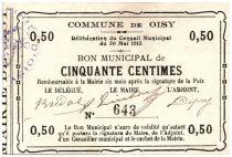 France 50 cent. Oisy City - 1915